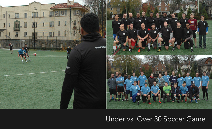 Annual Under 30 vs. Over 30 Soccer Match