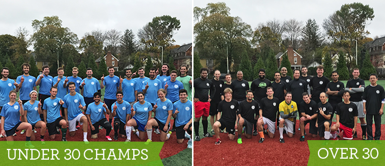SIG's annual Under 30 vs. Over 30 soccer match